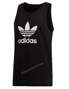 TANK TOP MEN'S ADIDAS DV1508 DV1509 BLACK WHITE COTTON TREFOIL
