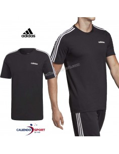T-SHIRT ADIDAS DQ3113 ESSENTIALS 3-STRIPES BLACK