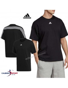 T-SHIRT ADIDAS EB5277 BLACK COTTON ROUND NECK