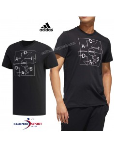 T-SHIRT ADIDAS FM6062 BLACK COTTON ROUND NECK