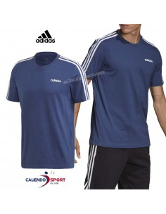 T-SHIRT ADIDAS FM6228 ESSENTIALS 3-STRIPES BLUE