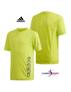 T-SHIRT KIDS ADIDAS FM6863 TRAINING FLUO GREEN