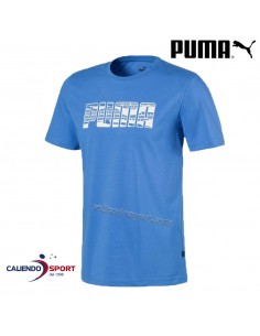 PUMA T-SHIRT 581905 41 LIGHT BLUE COTTON ROUND NECK