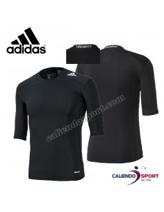 T-SHIRT MENS TECHFIT ADIDAS MAN TRAINING AJ4966 BLACK RACE PALETSRA CLIMALITE SPORTS