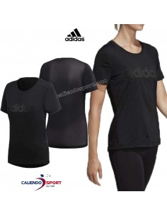 T-SHIRT ADIDAS WOMAN DS8724 BLACK CLIMALITE SPORTS