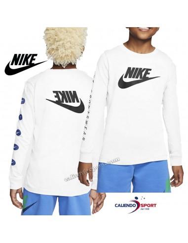 NIKE T-SHIRT CHILDREN CV2126 100 WHITE