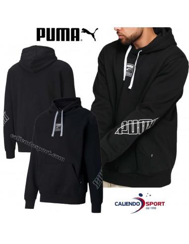 PUMA HOODY 583494 01 BLACK FLEECE...