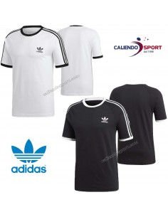 T-SHIRT MAN'S ADIDAS ORIGINALS CW1202 CW1203 BLACK WHITE 3STRIPES TEE