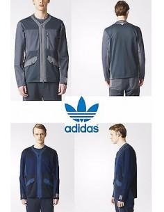 Jacket Adidas Originals Sport Men CASUAL WM TT Grey CARDIGAN Blue AO0847
